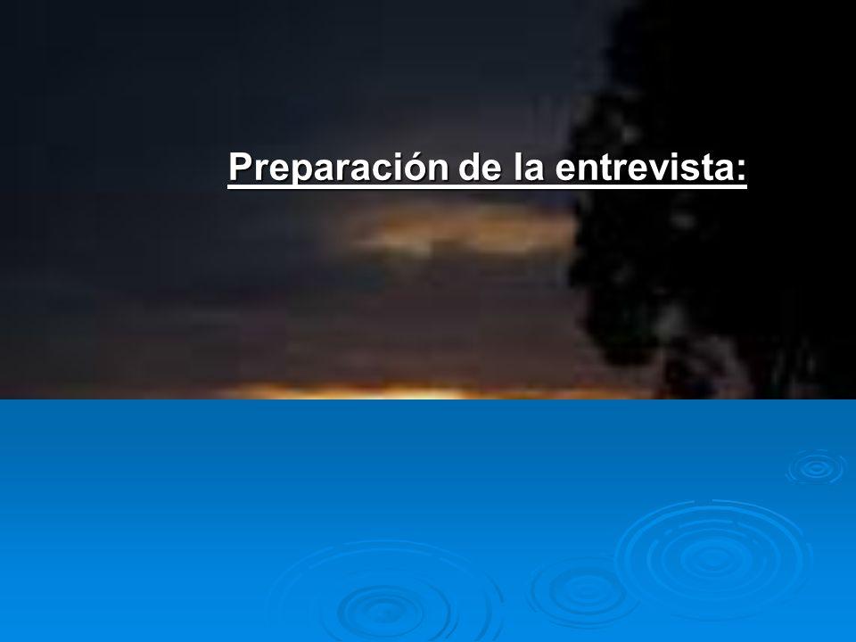 1.Preparar las preguntas que van a plantearse, y los documentos necesarios.