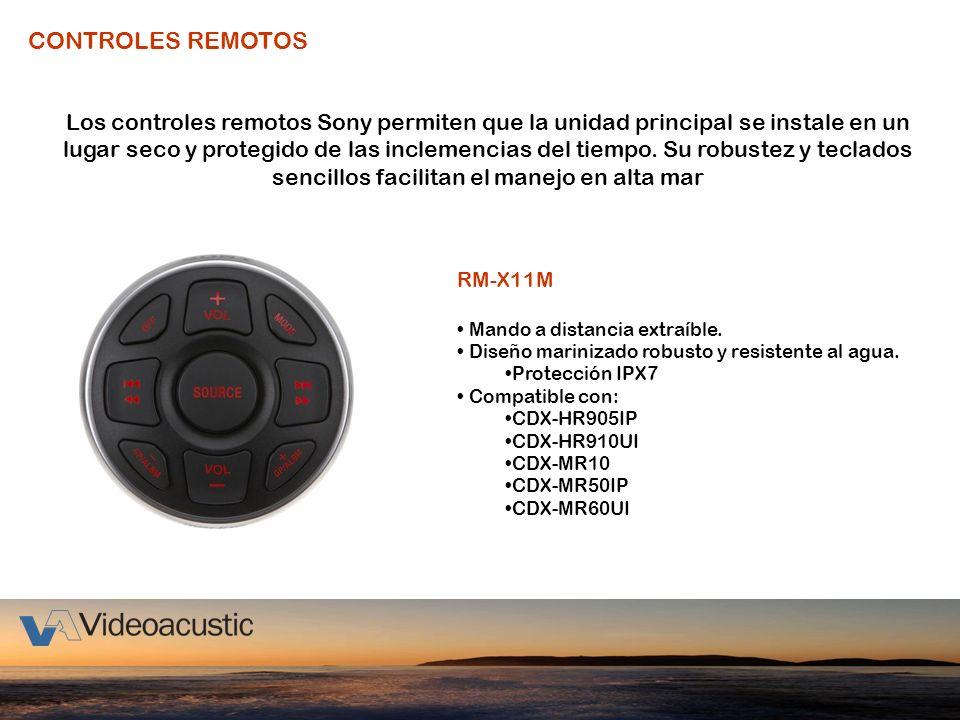 CONTROLES REMOTOS Los controles remotos Sony permiten que la unidad principal se instale en un lugar seco y protegido de las inclemencias del tiempo.