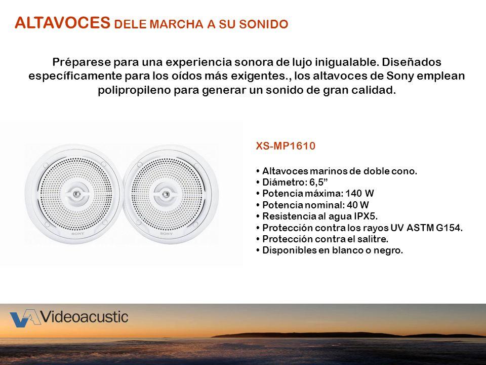 ALTAVOCES DELE MARCHA A SU SONIDO Préparese para una experiencia sonora de lujo inigualable. Diseñados específicamente para los oídos más exigentes.,