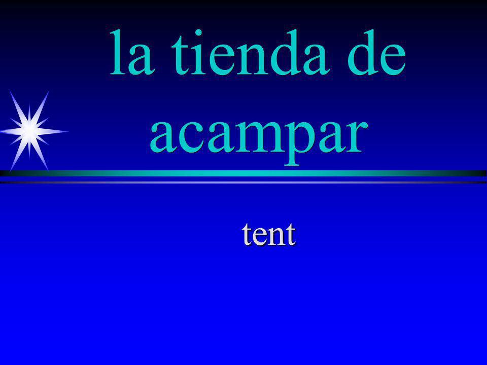 la tienda de acampar tent