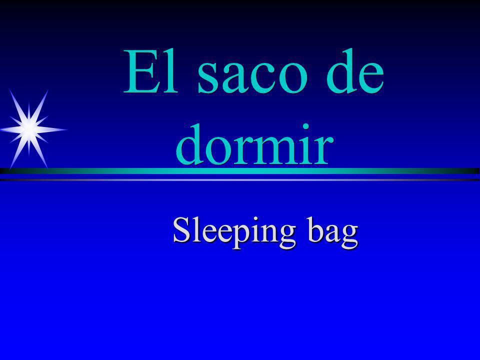 El saco de dormir Sleeping bag