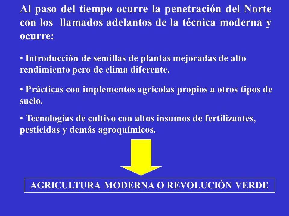 Consecuencias de la Revolución Verde en Cuba Erosión genética : Reemplazo de variedades autóctonas.