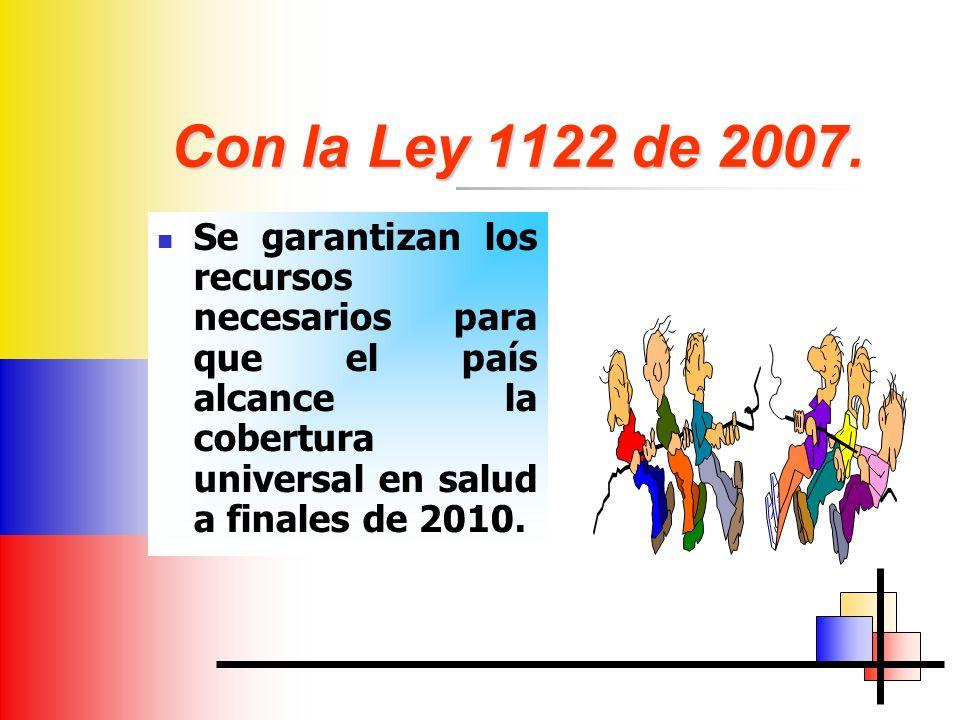 Con la Ley 1122 de 2007.