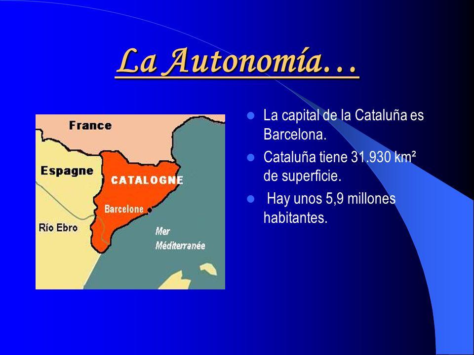 Situación Cataluña está en el noreste de España. Está al lado de Aragón. Cataluña tiene fronteras con Francia.