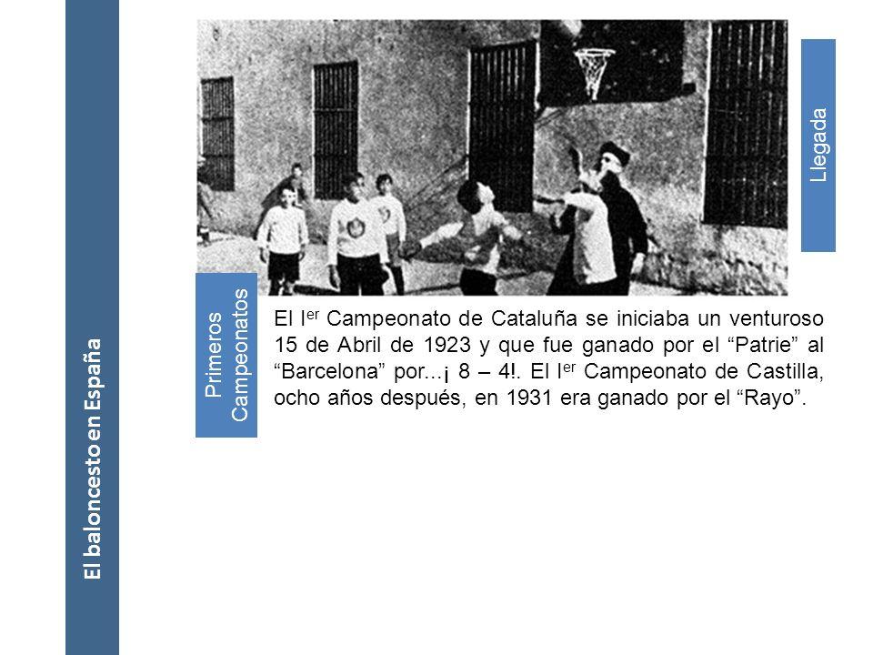 El baloncesto en España El baloncesto arribó a España de la mano de un sacerdote escolapio llamado Eusebio Millán Alonso*, el cual y a su regreso de C
