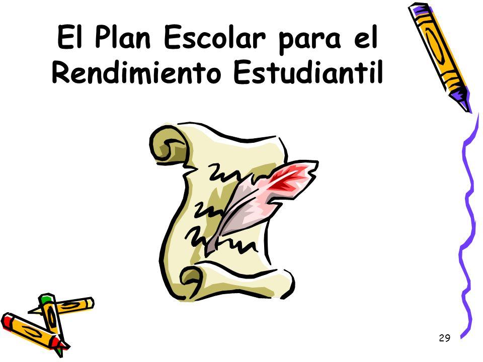 29 El Plan Escolar para el Rendimiento Estudiantil