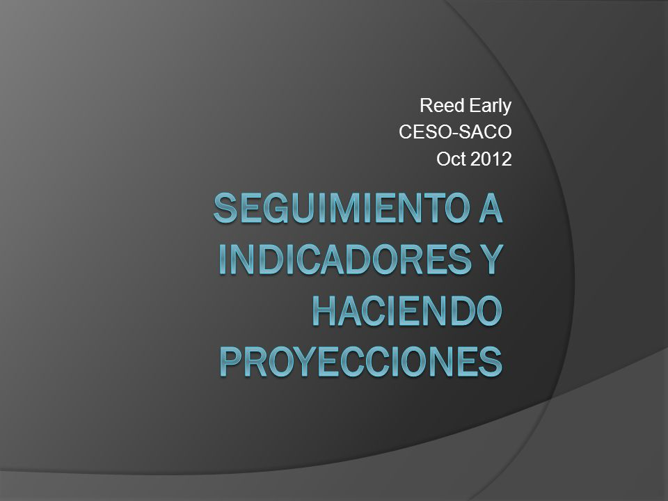 Reed Early CESO-SACO Oct 2012