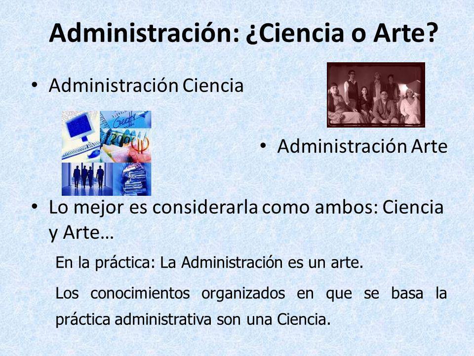 2. Objeto de Estudio de la Administración