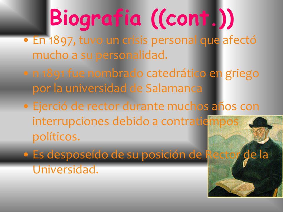 Biografia Nació en Bilbao en 1864, hijo de un comerciante indiano. Se trasladó a Madrid en 1880 para estudiar en la Facultad de Filosofía y Letras, Se