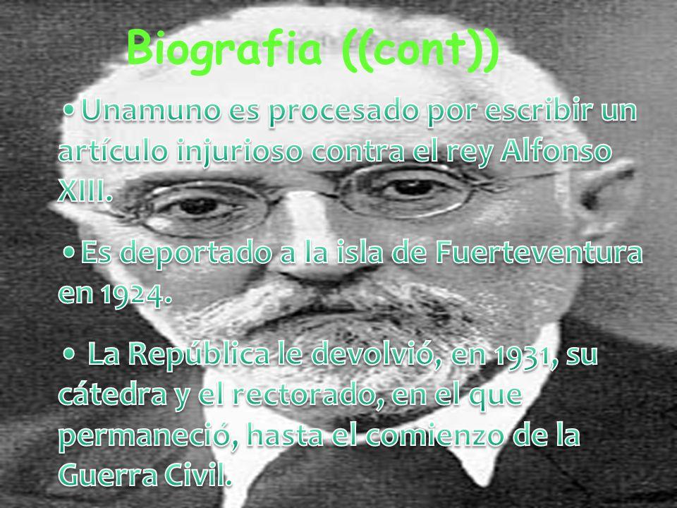 Biografia ((cont.)) En 1897, tuvo un crisis personal que afectó mucho a su personalidad. n 1891 fue nombrado catedrático en griego por la universidad