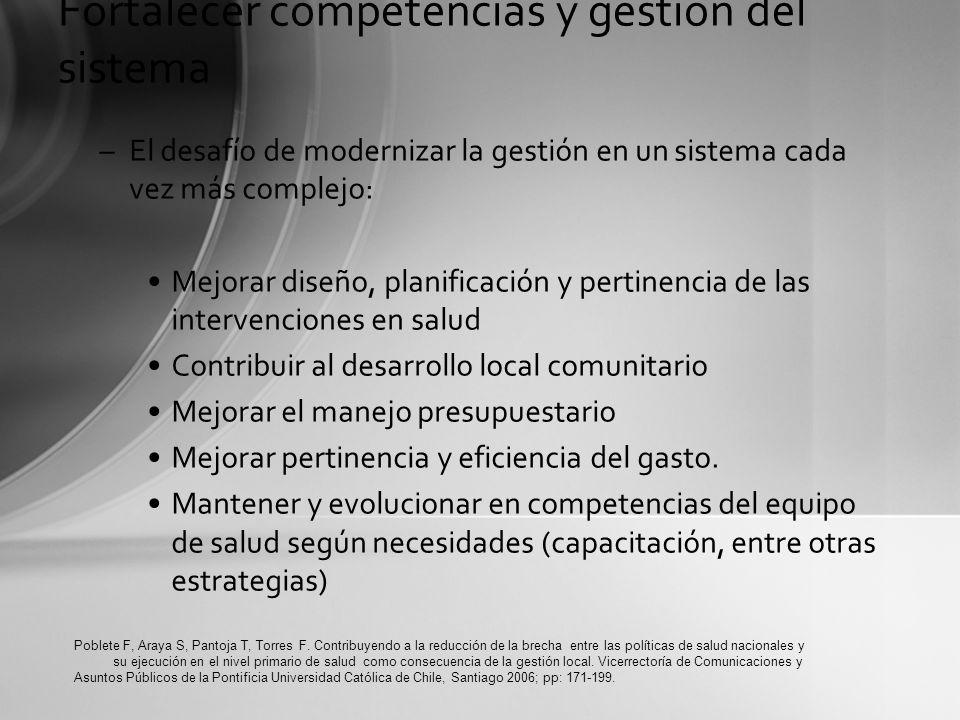 –El desafío de modernizar la gestión en un sistema cada vez más complejo: Mejorar diseño, planificación y pertinencia de las intervenciones en salud C