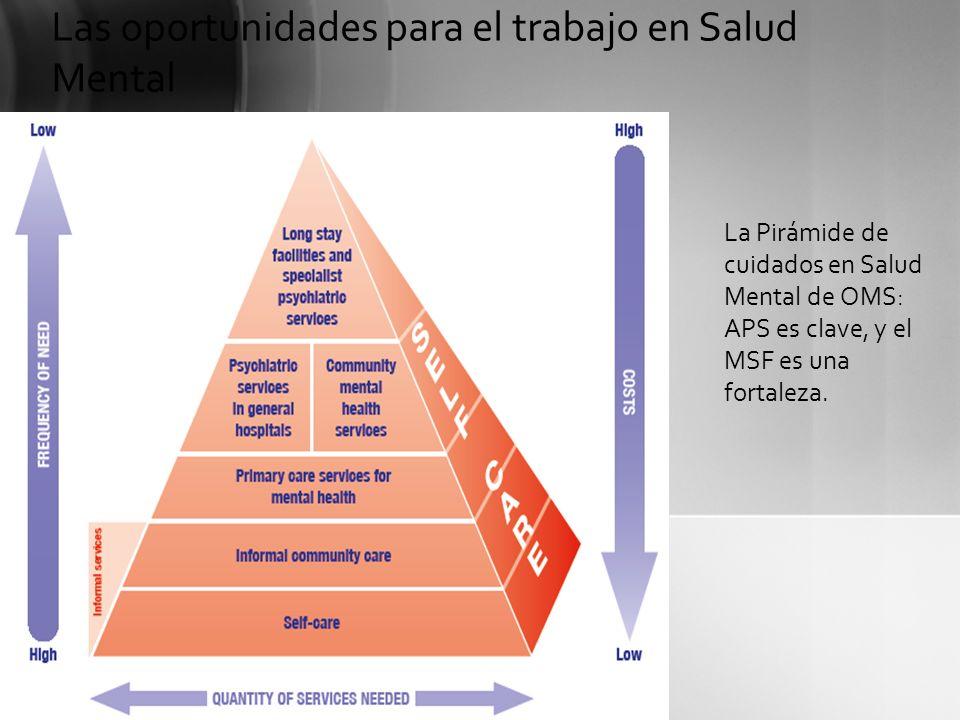 La Pirámide de cuidados en Salud Mental de OMS: APS es clave, y el MSF es una fortaleza. Las oportunidades para el trabajo en Salud Mental
