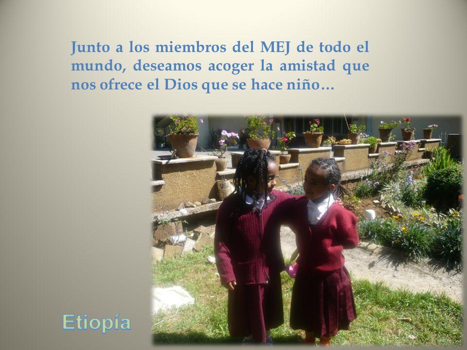 Junto a los miembros del MEJ de todo el mundo, deseamos acoger la amistad que nos ofrece el Dios que se hace niño…