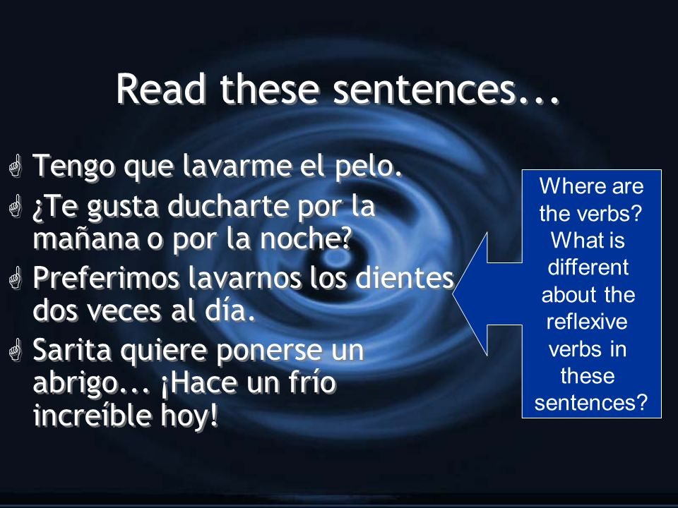 You dont always need to conjugate every verb.