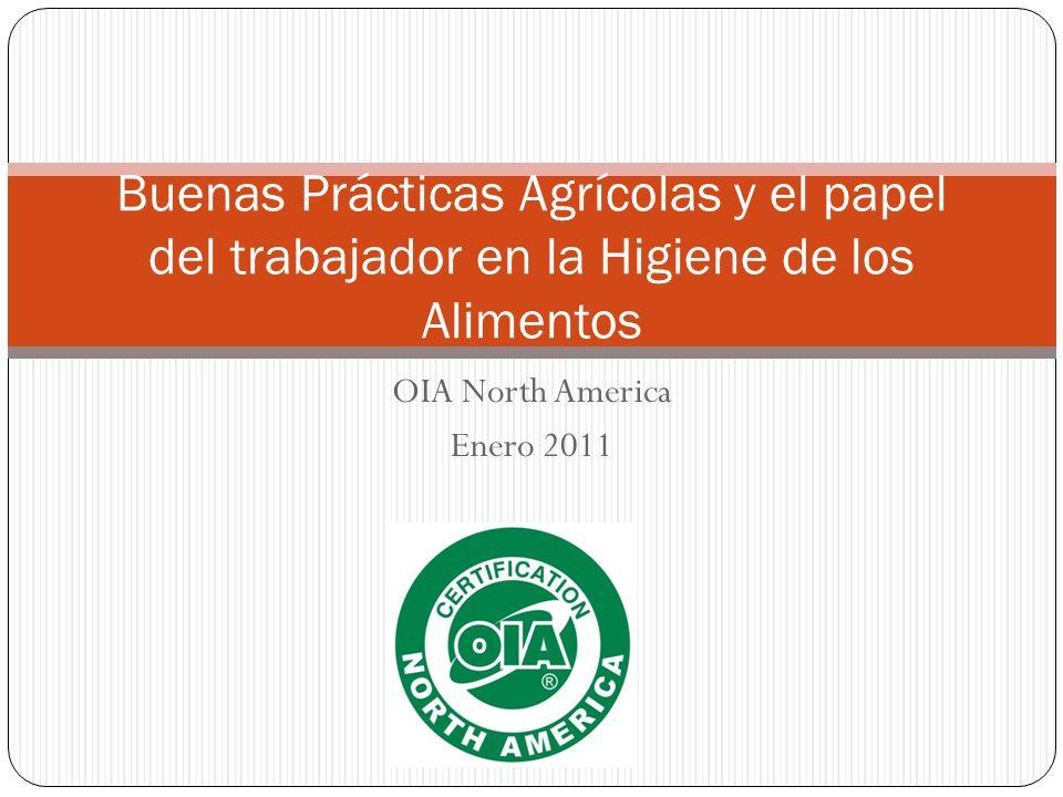 OIA North America Enero 2011 Buenas Prácticas Agrícolas y el papel del trabajador en la Higiene de los Alimentos