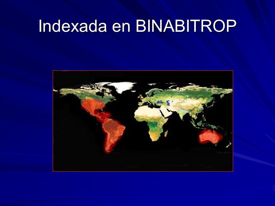Indexada en BINABITROP