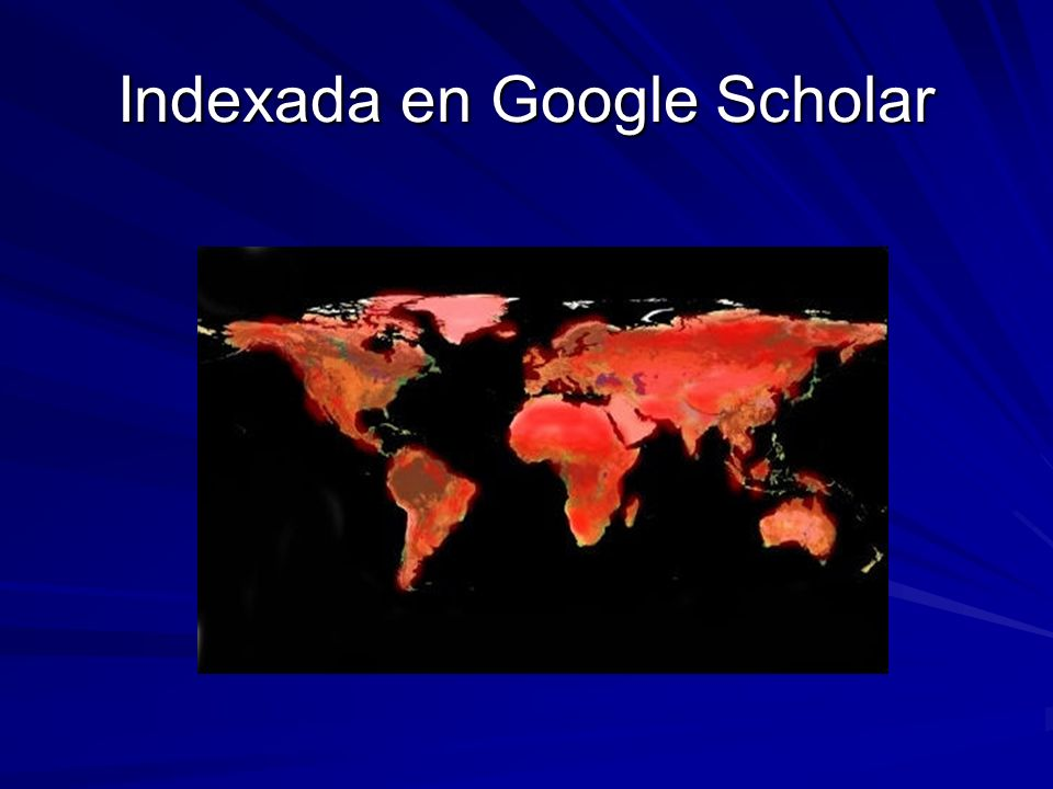 Indexada en Google Scholar
