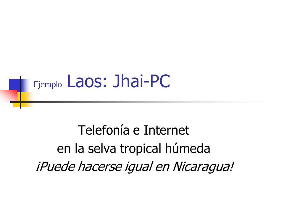 Ejemplo Laos: Jhai-PC Telefonía e Internet en la selva tropical húmeda ¡Puede hacerse igual en Nicaragua!