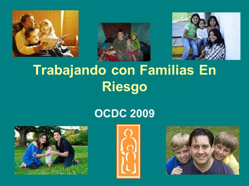 Factores de Estrés en la Familia: Abuso de Drogas y &Alcohol 38.5% Envolvimiento de los padres con las Autoridades 25.1% Violencia Doméstica 23.6% Un nuevo Bebé o Embarazo 12.1% Jefe de la Familia sin Empleo 11.8% Historia de Abuso cuando el padre era niño 11.1% Vivienda Inadecuada 7.2% Alta Responsabilidad del Cuidado de un Niño 2.8% Usualmente existen varios factores estresantes ocurriendo simultáneamente en familias de víctimas de abuso/negligencia de niños
