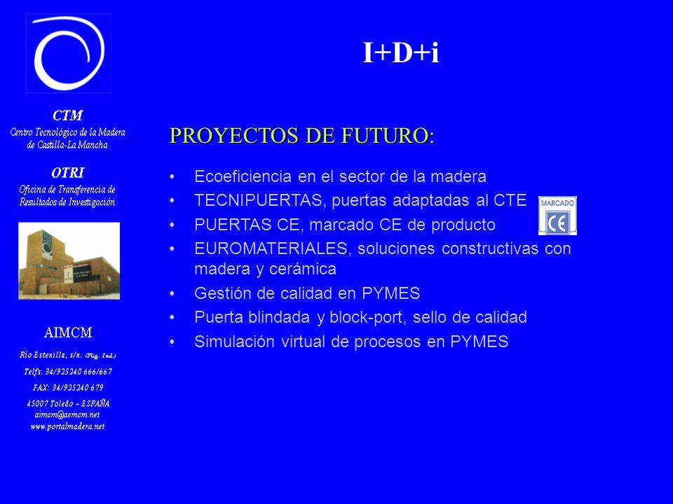 Z PROYECTOS DE FUTURO: Ecoeficiencia en el sector de la madera TECNIPUERTAS, puertas adaptadas al CTE PUERTAS CE, marcado CE de producto EUROMATERIALES, soluciones constructivas con madera y cerámica Gestión de calidad en PYMES Puerta blindada y block-port, sello de calidad Simulación virtual de procesos en PYMES