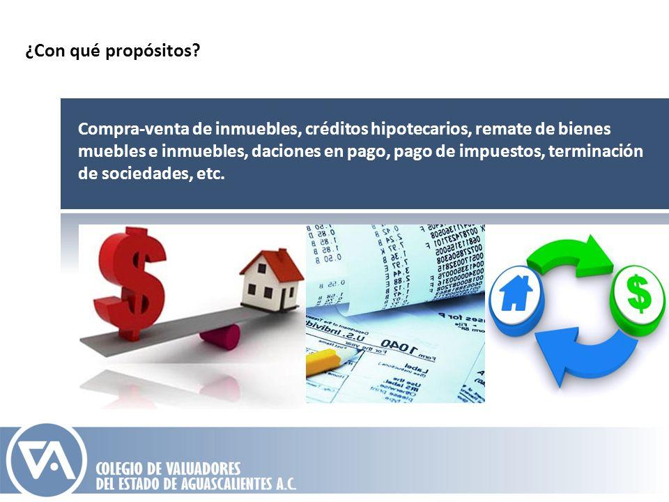 Compra-venta de inmuebles, créditos hipotecarios, remate de bienes muebles e inmuebles, daciones en pago, pago de impuestos, terminación de sociedades