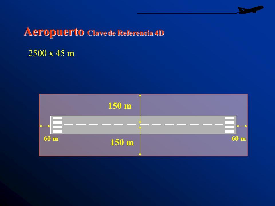 Aeropuerto Clave de Referencia 4D 150 m 60 m 2500 x 45 m