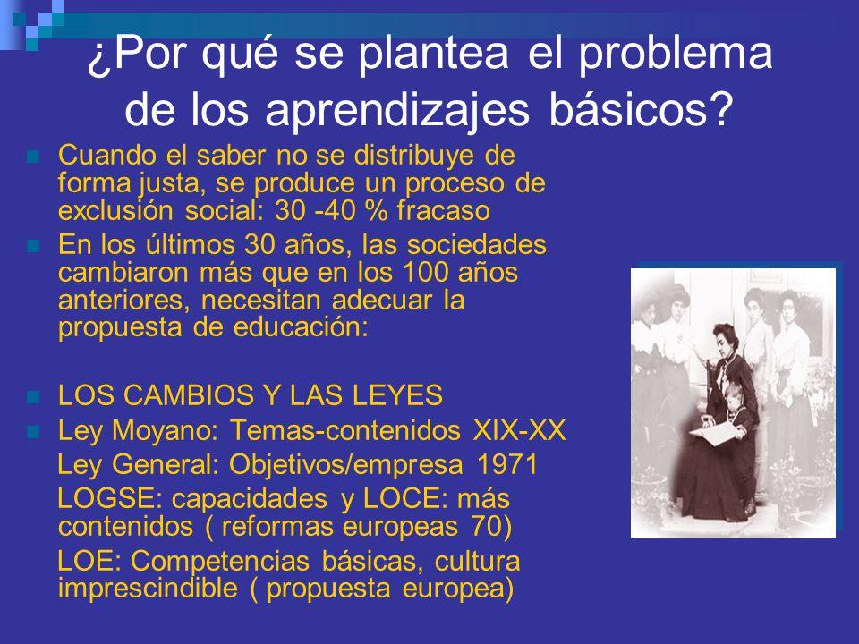 ¿Por qué se plantea el problema de los aprendizajes básicos.