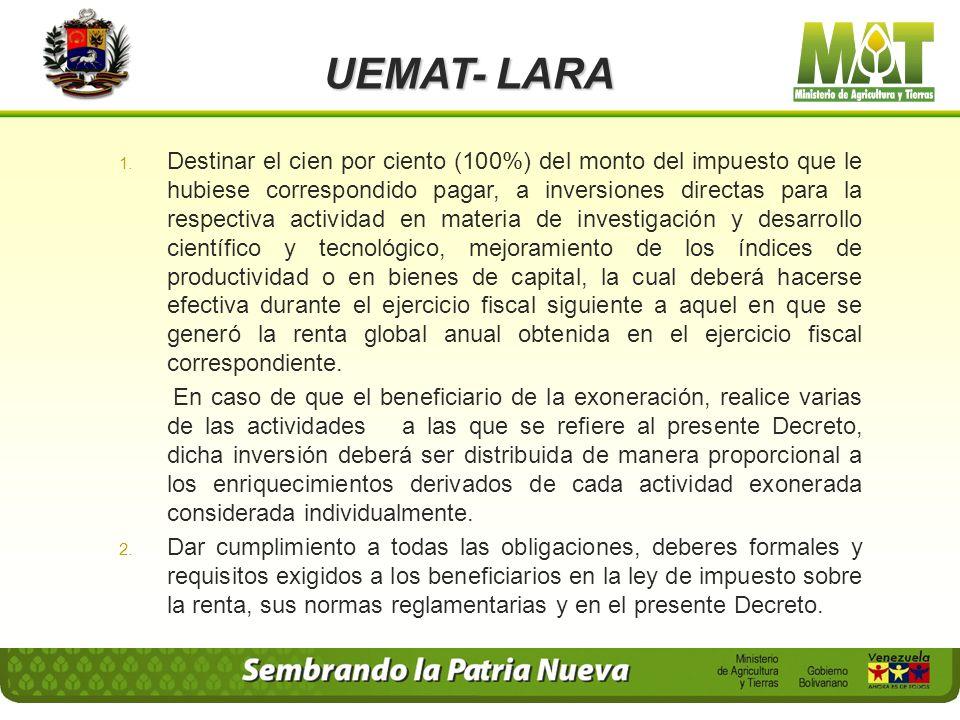 UEMAT- LARA 4. Presentar en original y copia, la autorización para el ejercicio de la actividad cuya renta se somete a exoneración o ka permisologia r
