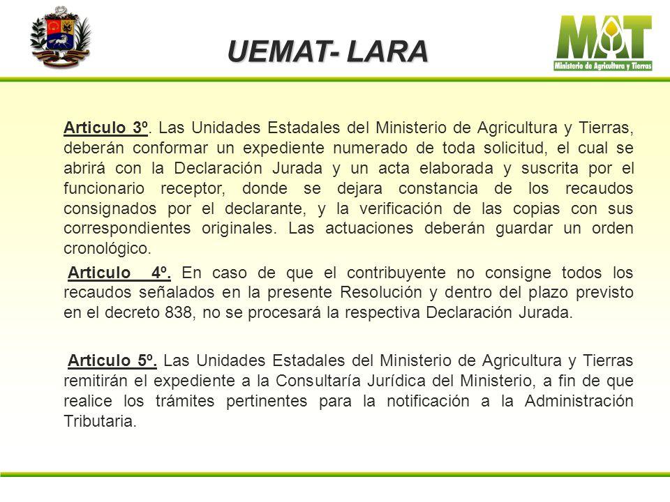 UEMAT- LARA d) Original y copia simple del Registro de información Fiscal (RIF). e) Original de las facturas de contado o el contrato de compra- venta