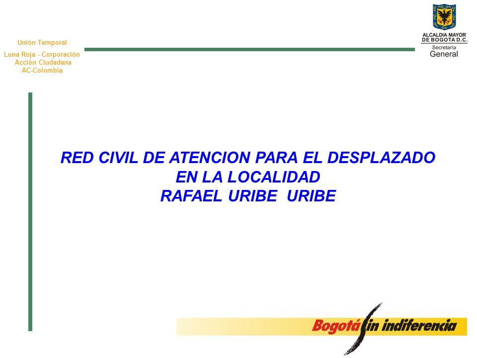 Unión Temporal Luna Roja - Corporación Acción Ciudadana AC-Colombia RED CIVIL DE ATENCION PARA EL DESPLAZADO EN LA LOCALIDAD RAFAEL URIBE URIBE