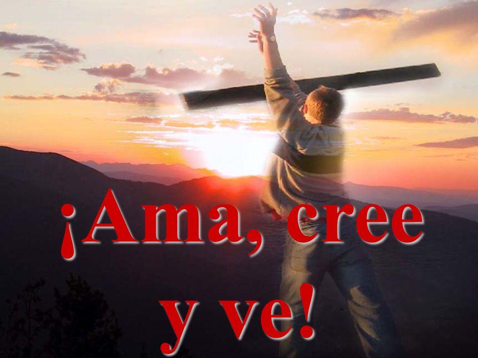 ¡Ama, cree y ve! ¡Amo, creo y soy! ¡Ama, cree y ve!
