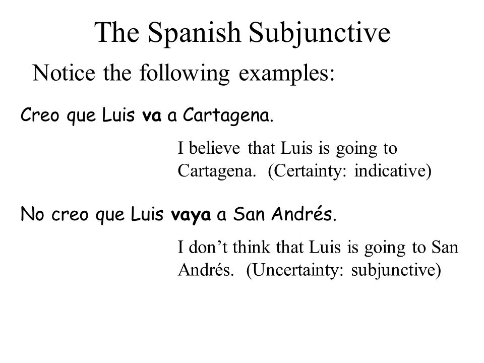 9 How do you form the subjunctive.