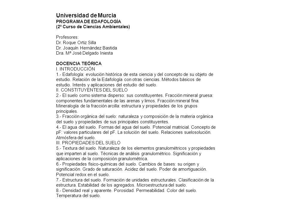 IV.FACTORES Y PROCESOS DE FORMACIÓN DEL SUELO. 9.- Condiciones ambientales de la edafogénesis.