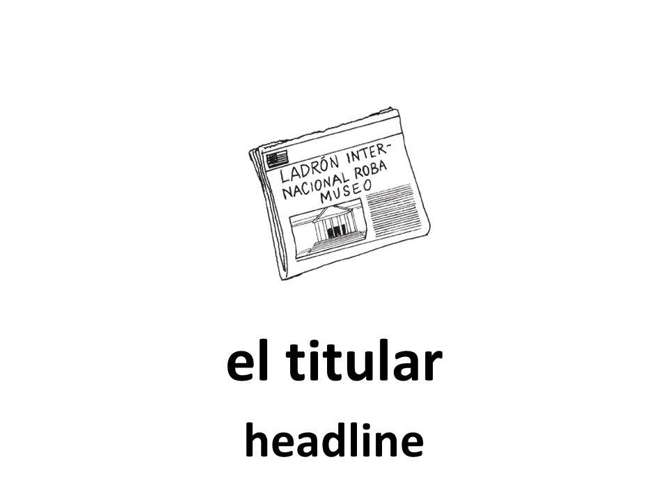 el titular headline