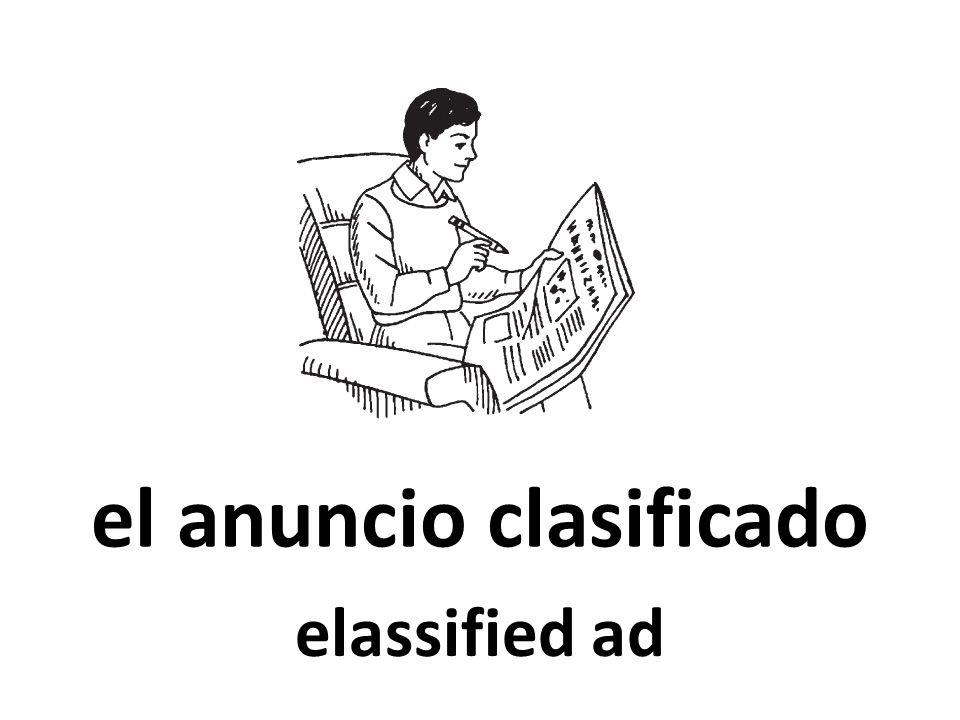 el anuncio clasificado elassified ad