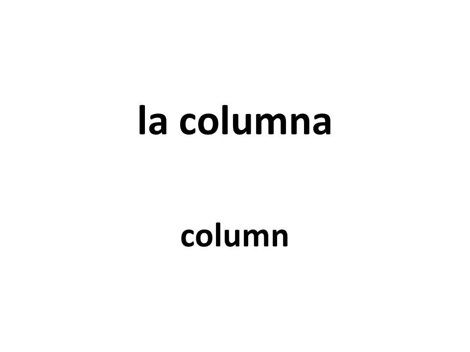 la columna column