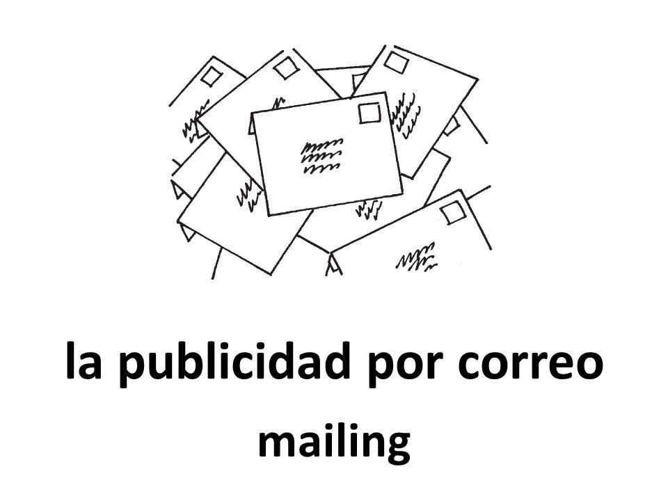 la publicidad por correo mailing