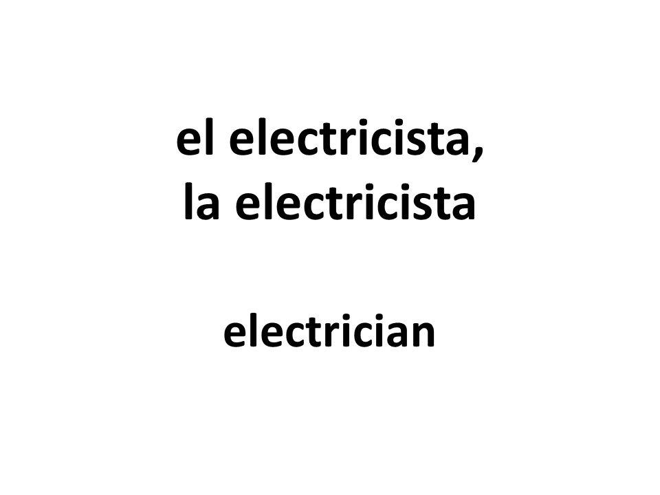 el electricista, la electricista electrician