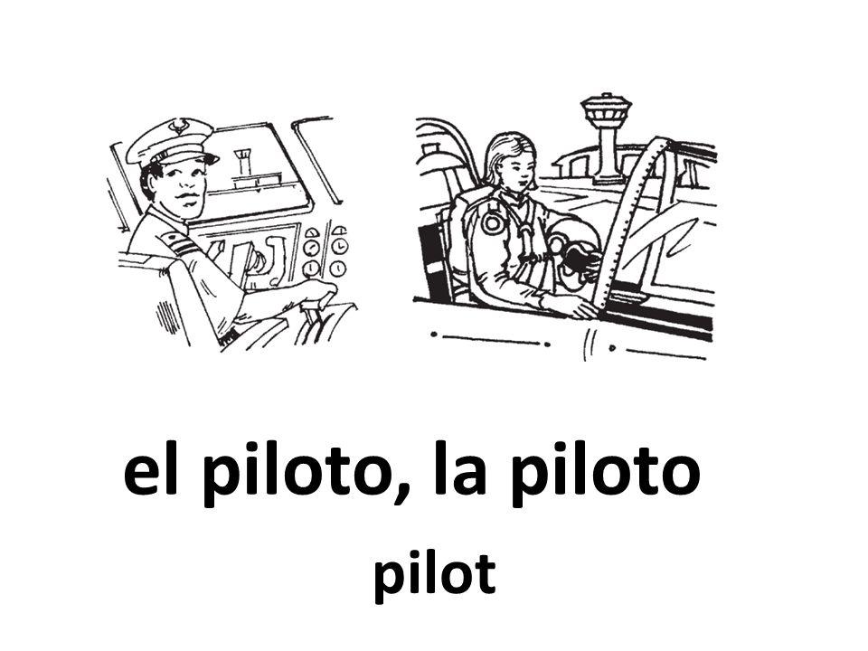 el piloto, la piloto pilot