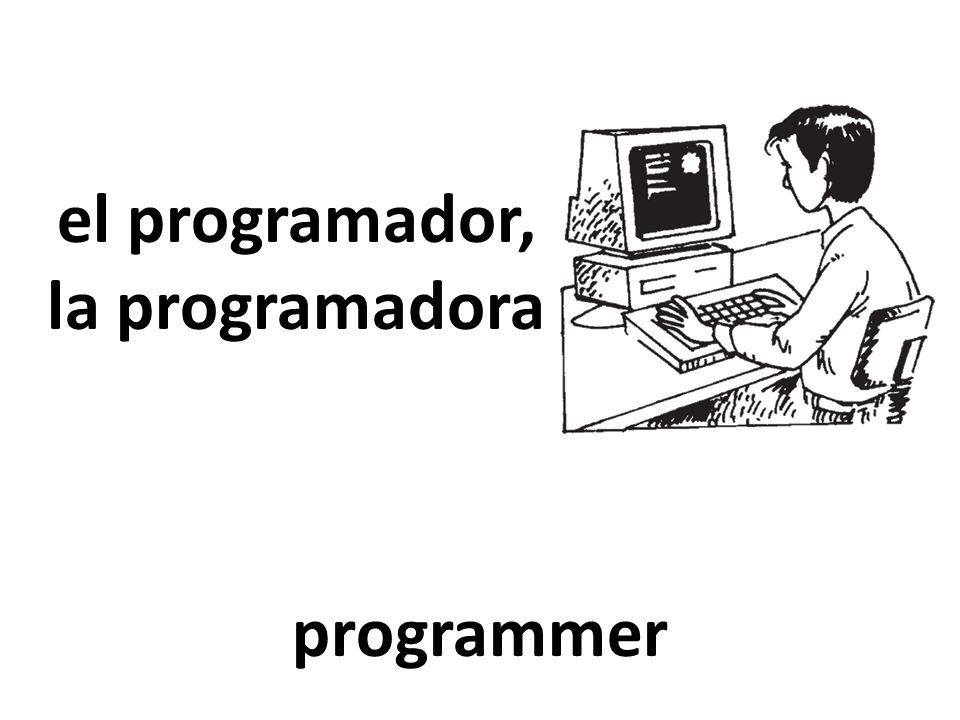 el programador, la programadora programmer