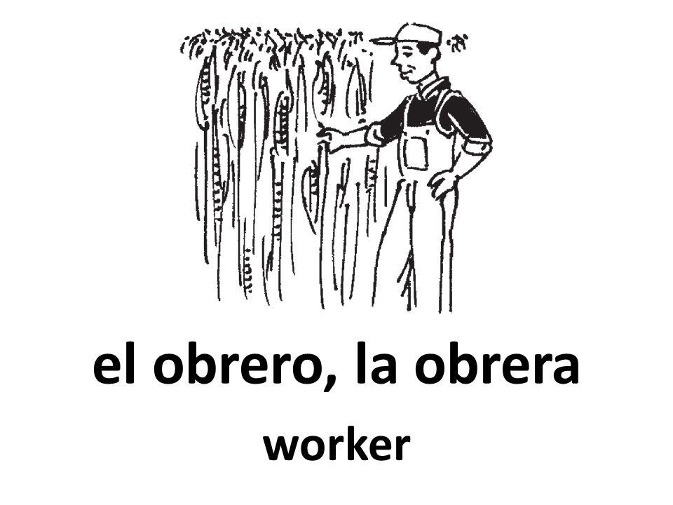 el obrero, la obrera worker