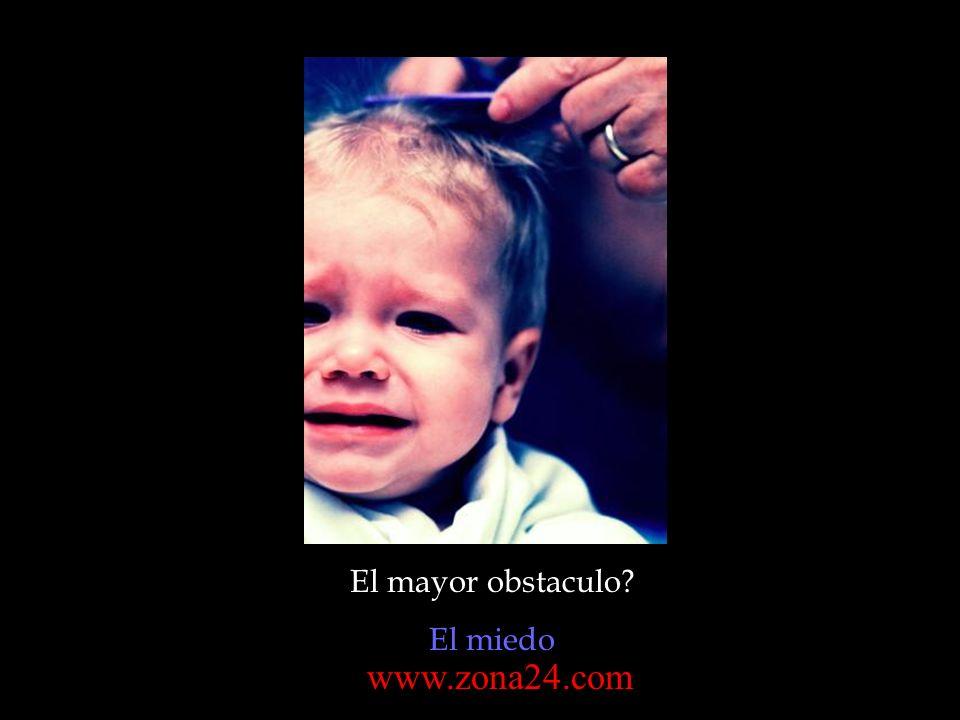 El mayor obstaculo? El miedo www.zona24.com