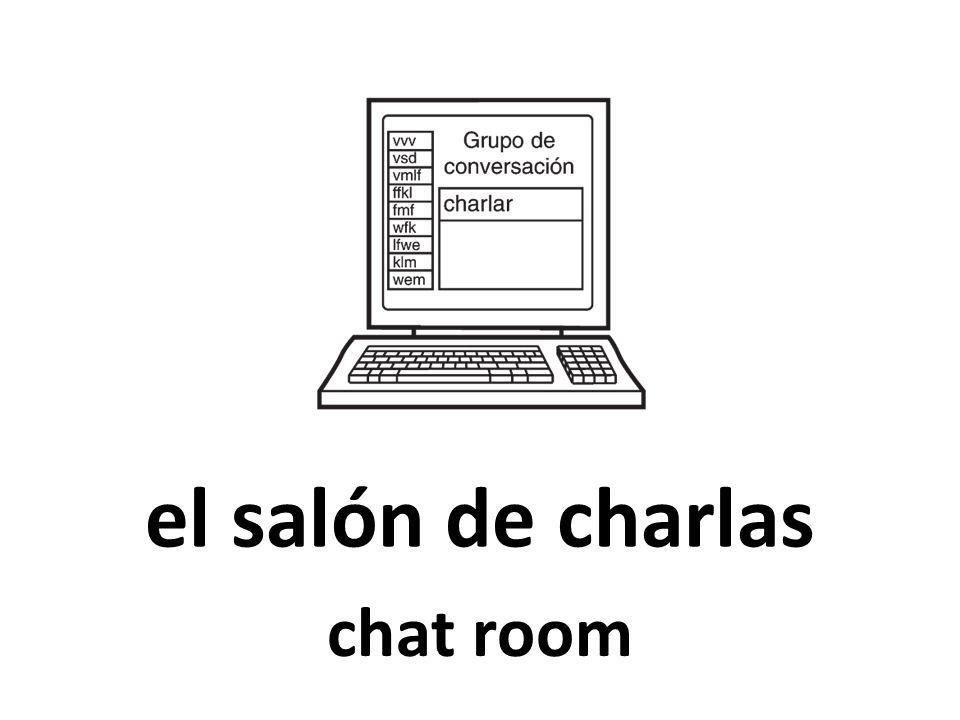 el salón de charlas chat room