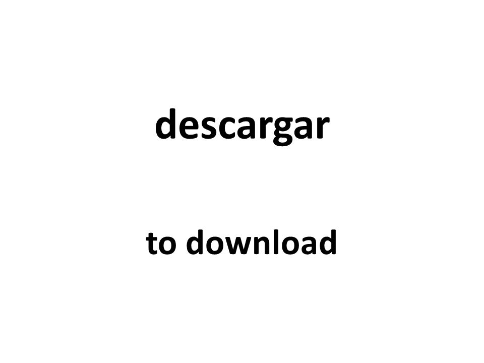 descargar to download