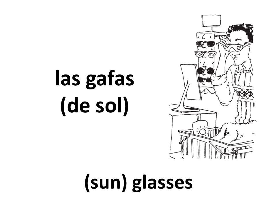 las gafas (de sol) (sun) glasses