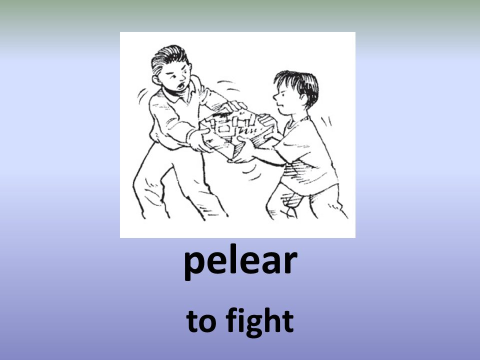 pelear to fight