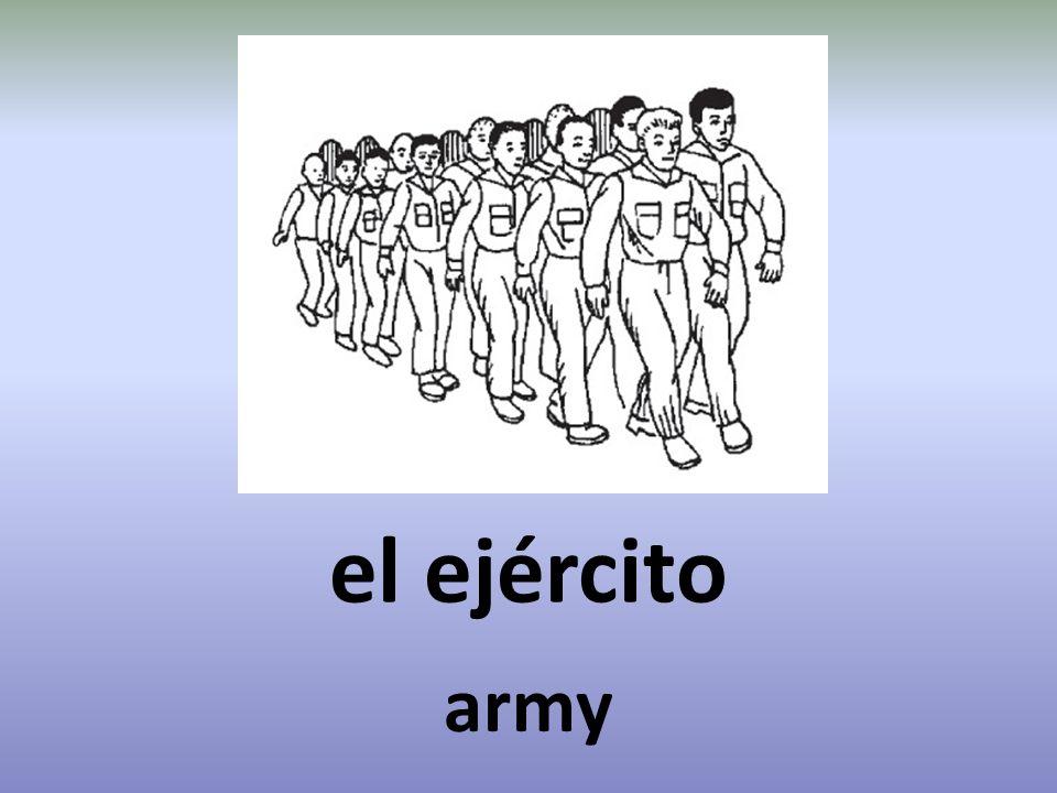 el ejército army