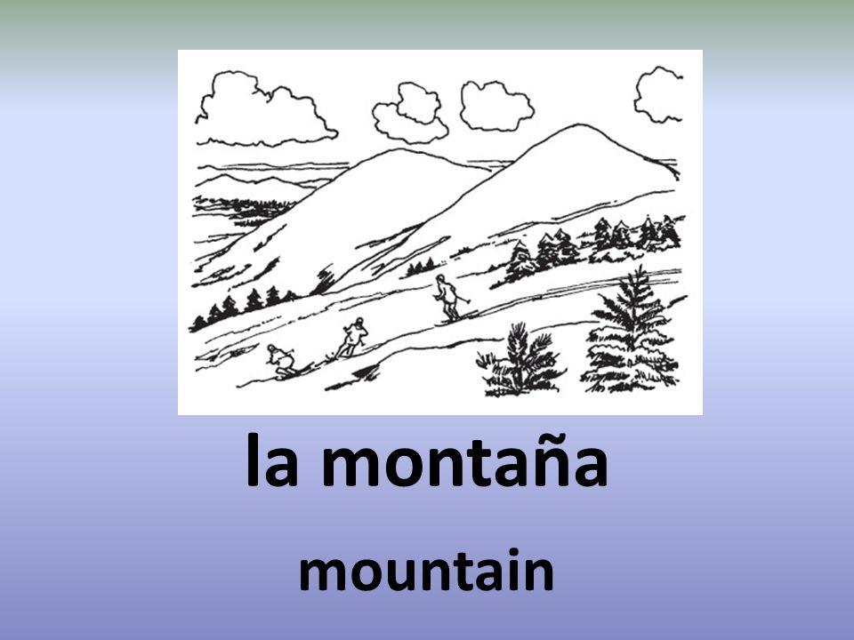 la montaña mountain