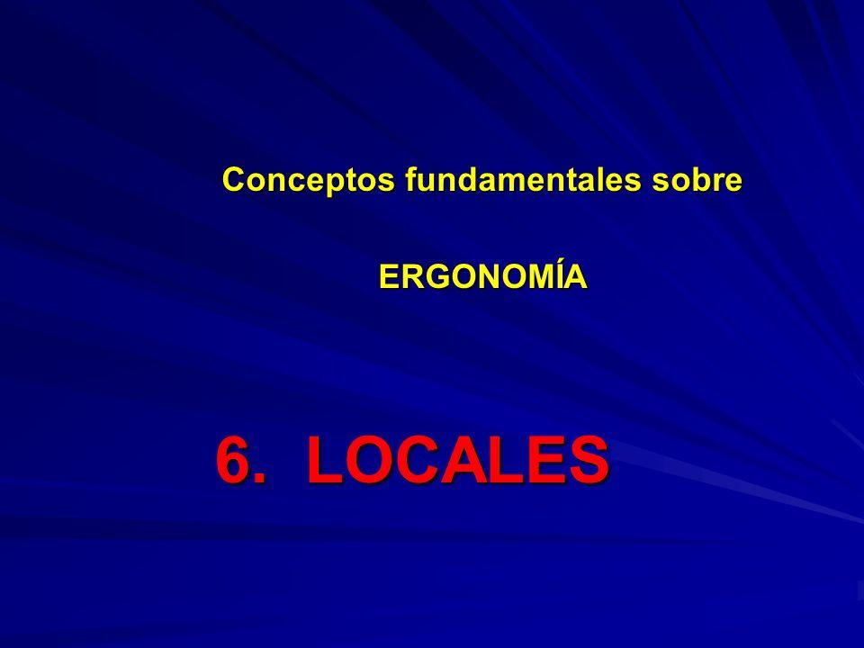 6. LOCALES Conceptos fundamentales sobre ERGONOMÍA