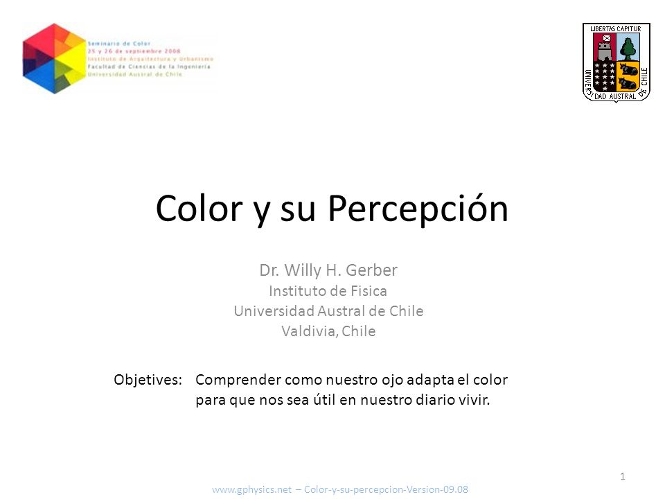 Color y su percepción Resumen Exploraremos el color desde el aspecto físico de su creación y propagación, pasando por las distorsiones que experimentamos con nuestros ojos, hasta la forma como nuestro cerebro termina percibiéndolo.